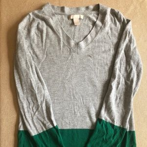 BR Gray & Green Sweater - Size M
